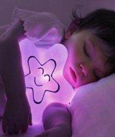 Quaranta Lampka przytulanka fioletowa